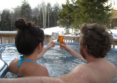 Enjoy a relaxing evening in the hot tub