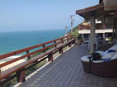 Photo for Home with SPECTACULAR VIEW for beach Geribá, private exit to the beach