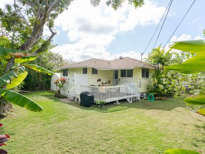 Photo for Kalaheo Beach House with 2 bedroom 1 1/2 bath - located in beach lane - AC