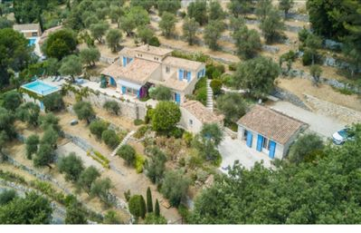 Photo for South-facing villa with panoramic view-swimming pool (7.5m x 4m)