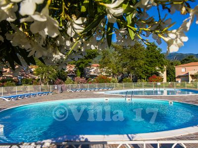 Photo for * 2 air conditioned mini villa overlooking pools and garden, 500 m beach, for 4 people