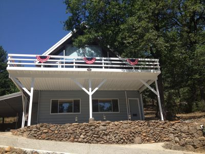 Photo for Family lake house next to Sugarloaf Marina with a huge deck, views & game room