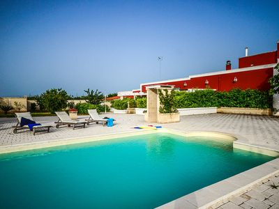 Photo for Maiorana - apartment in typical Apulian masseria with pool