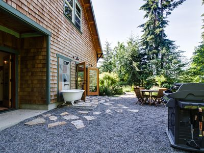 Photo for Art-filled retreat surrounded by trees & gardens, almost an acre of land!