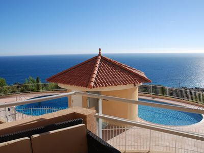 Photo for T3 at CAP D'AIL - 5 km from MONACO - Exceptional view St Jean Cap Ferrat bay