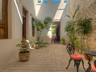 The central courtyard brings light and breezes into the entire house