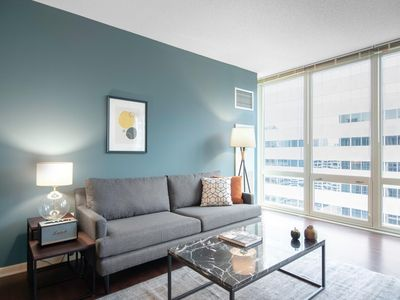 Photo for Modern Loop 1BR w/ Roofdeck, Pool, Theater, near the L by Blueground