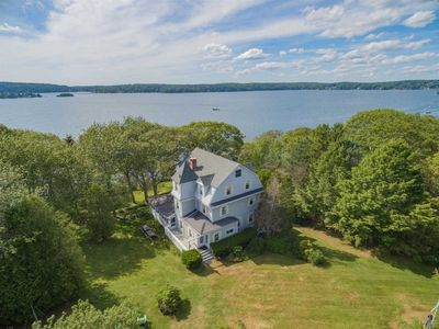 Photo for Beautiful and Spacious Seaside Home in East Boothbay with Deep Water Dock & Float, Wrap-Around Porch