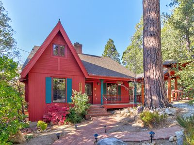 Photo for NEW LISTING! Charming, upgraded home w/wrap-around deck & fireplaces - 2 dogs OK