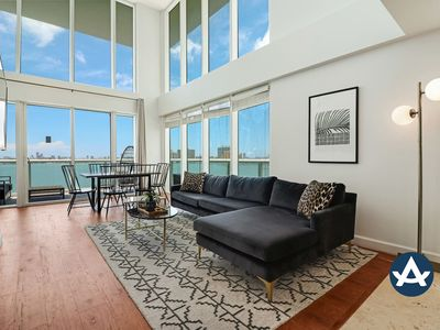 Photo for Sextant | 2-Story Waterfront Condo #6 | Heated Pool | 10 mins to Miami Beach