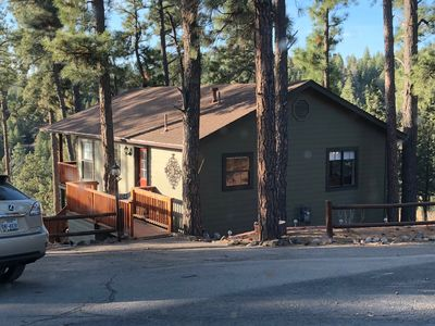 Photo for Ruidoso Alpine Village Cabin -View, Hot Tub & More