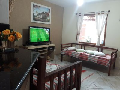 Photo for CASA CHARMOSA BEACH OF JABAQUARA WITH AREA BBQ + WIFI + TV TO CABLE