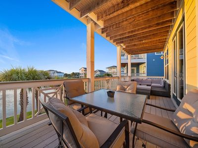 Photo for Gulf view home w/ double decks, beach access & shared pools/hot tubs - 2 dogs OK