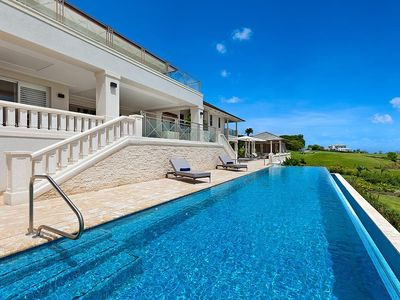 Photo for Beautiful 5 Bedroom Villa, Infinity-Edge Swimming Pool with Sea Views, Access to Beach Club