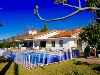 Photo for Family Villa in the foot hills of Marbella, with private garden and fenced pool.