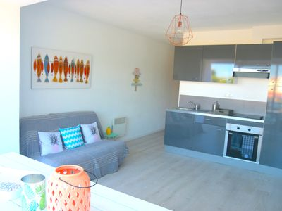 Photo for SOUTH of FRANCE! Nice apartment with terrace. Beach at 100m!  For 4 guests