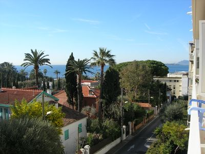 Photo for Grand Studio Juan les Pins sea view, near beaches pinewood center, quiet area