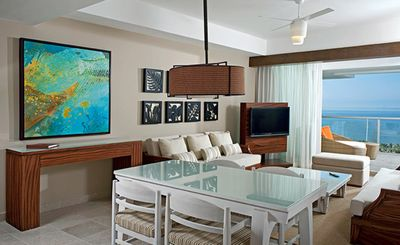 Dining and living area of the Grand Bliss Master Suite.