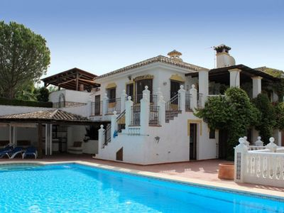 Photo for This rustic, Andalucian-style, villa has wonderful views of the Mijas mountains, as well as towards