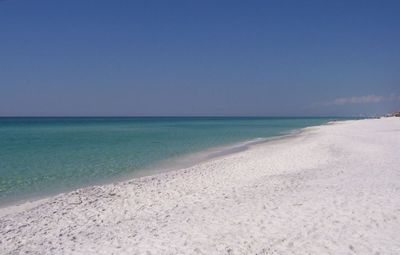 White Sugar Sand Beach and Crystal Clear Gulf Water