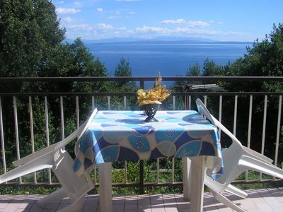 Photo for Four bedroom apartment with terrace and sea view Ičići (Opatija)