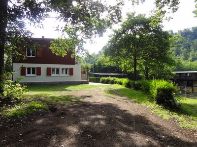 Photo for Spacious House In The Heart Of The Northern Vosges. View of ponds and private spa.