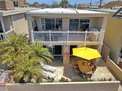 Photo for Sleeps 17! Ocean view! 30 Seconds to Beach! Garage Parking/4 bikes/washer/WiFi