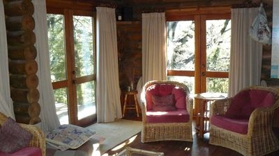 Photo for Pokaka lodge, private log cabin surrounded by native bush. Allows dogs.