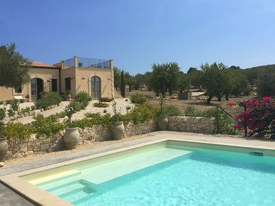 Photo for Secluded luxury villa near Noto, southern Sicily, sleeping 9/10 in 4 bedrooms.