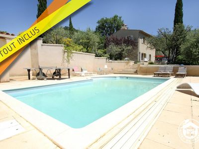 Photo for Provencal farmhouse, 6 people, with private swimming pool in absolute calm, facing south.