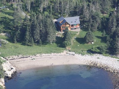 Photo for Luxury Log Home with Private Beach