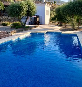 Photo for Luxury villa with a private heated pool overlooking the Sierra Nevada Mountains
