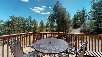 Photo for Dog-friendly, mountain view home w/ a full kitchen, deck and private grill