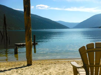 Photo for Lakefront Cottage With Secluded Beach