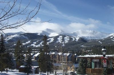 Breckenridge Ski Resort view from our house. Horse & carriage pass by daily.