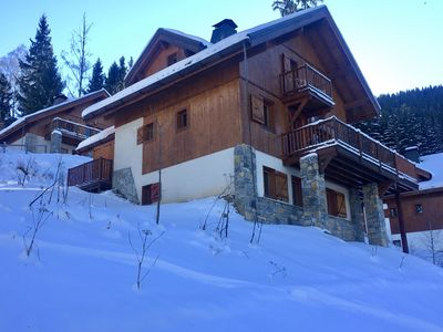Photo for LUXURY SKI CHALET, 6 BED, 5 BATH, FREE WIFI, BEAUTIFUL VIEW NEXT TO SKI SLOPE