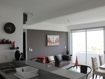 Photo for Beautiful and New Apartment with Amazing City Views in Cancun with Pool LIV604