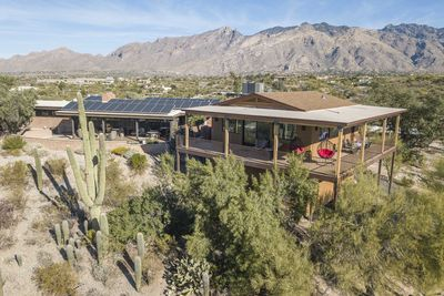 Aerial view of hilltop casita with spectacular views all around!