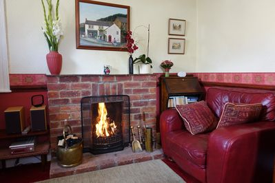 Cosy fire in lounge