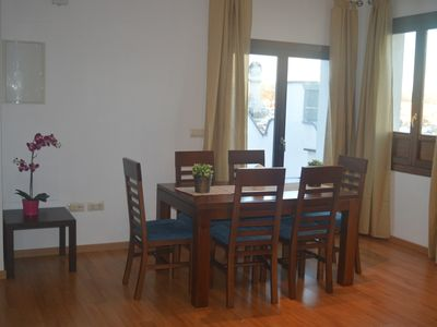 Photo for Central penthouse with terrace, parking, A / C, wifi, next to the town hall.