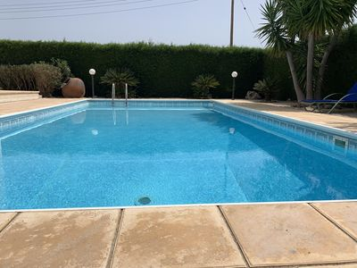 Photo for Ideal 3 bed holiday villa close to the beach with large private pool