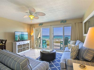 Photo for Crystal Sands 107A - Gulf Front! Complimentary Beach Service! Community Pool!