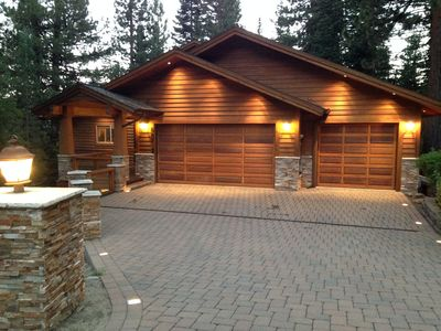 3 car garage, heated paver driveway with plenty of street parking