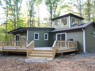 Photo for Contemporary, Secluded Cabin in the Heart of  Woodstock W/ Hot Tub & Fireplace