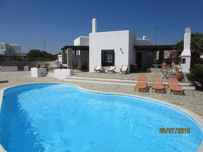 Photo for Naxos Waterfront Villa with pool and panorama view.