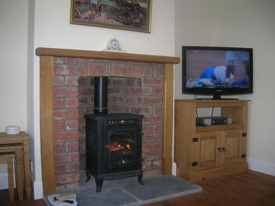 Wood Burning Stove in Lounge