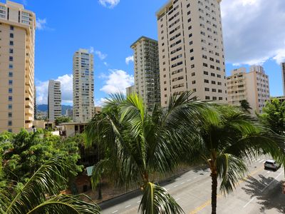 Photo for 2MIN TO BEACH! WAIKIKI HOTEL CONDO/LUGGAGE SERVICE FREE/FULL KITCHEN/2QUEEN BEDS