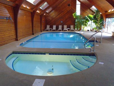 Relax in the indoor pool, hot tub & wet & dry saunas!