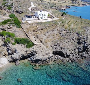 Photo for THE JOY OF SEASCAPE. 5 BEDROOM LUXURY BEACHFRONT PARADISEA VILLA IN NAXOS WITH LARGE PRIVATE INFINITY POOL