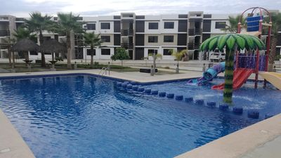 Photo for Apartment with pool in quiet tourist area
